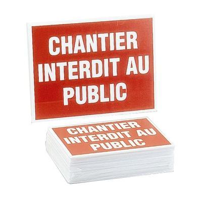 Panneau ''Chantier interdit au public'' - NOVAP - 4306148