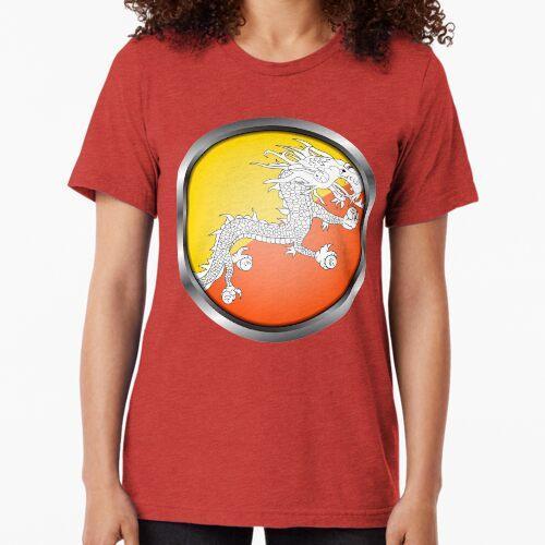 Bhutan Flag Metallrahmen Vintage T-Shirt