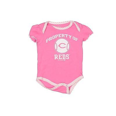 MLB Short Sleeve Onesie: Pink So...