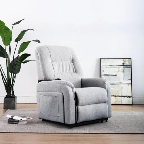TV-Sessel mit Aufstehhilfe Elektrisch Stoff Hellgrau