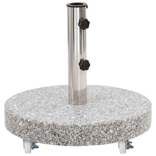 vidaXL Sonnenschirmständer Granit 30 kg Rund Grau