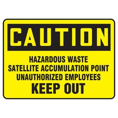 "Accuform Signs MCHL645XP OSHA ""HAZARDOUS WASTE"" Sign - 7"" x 10"", Accu-Shield? Plastic"