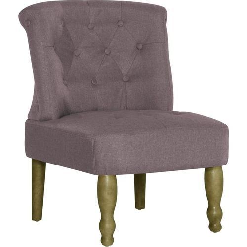 Französischer Stuhl Stoff Taupe
