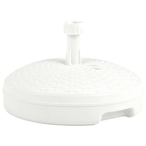 vidaXL Sonnenschirmständer Sand/Wasser 20 L Weiß Kunststoff