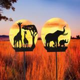 Solar Safair Globe Stakes Set Of...