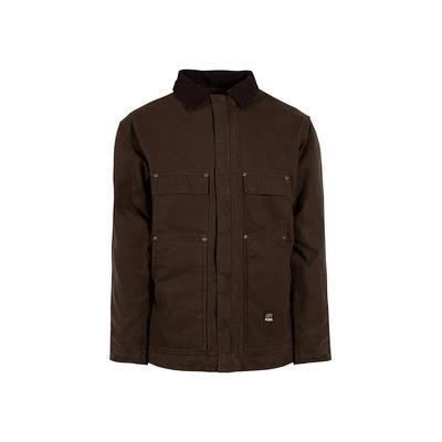 Berne Men's 4 XL Tall Bark 100% Cotton Original Washed Chore Coat, Brown