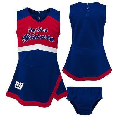 Girls Toddler New York Giants Royal/Red Cheer Captain Jumper Dress