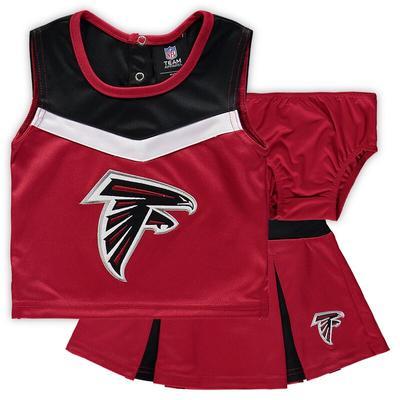Girls Preschool Atlanta Falcons Red Spirit Cheer Two-Piece Cheerleader Set With Bloomers