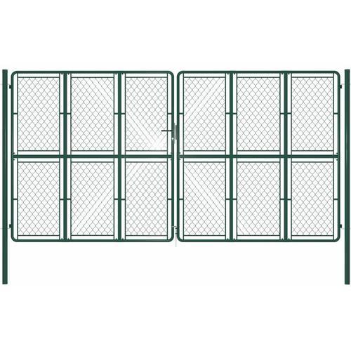 Gartentor Stahl 400 x 200 cm Grün