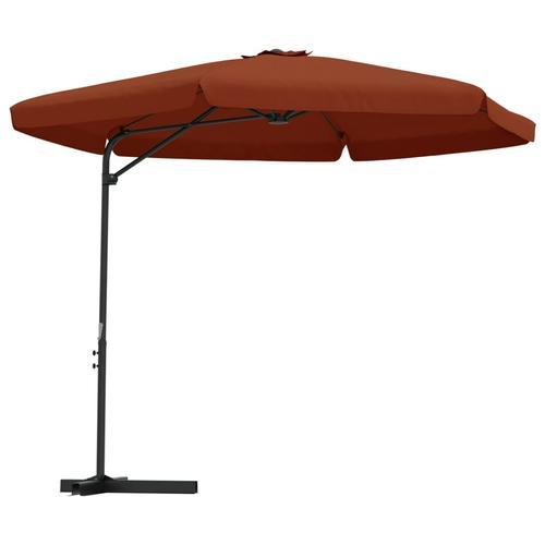 vidaXL Sonnenschirm mit Stahlmast 300 cm Terracotta-Rot