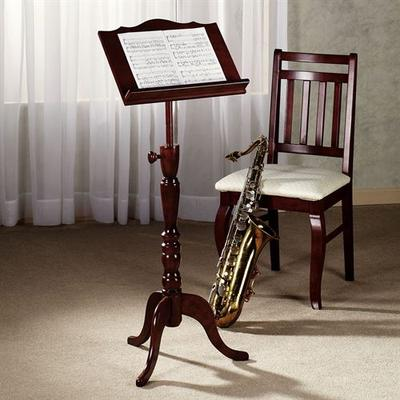Aubrie Music Stand Adjustable Classic Cherry , Classic Cherry