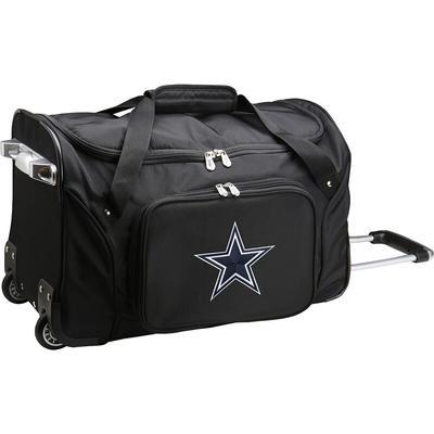 """Dallas Cowboys Black 22"""" 2-Wheeled Duffel Bag"""