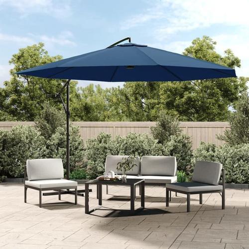 Ampelschirm mit Alu-Mast 350 cm Blau