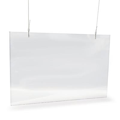 "Nemco 69798 Easy Shield? Hanging Safety Shield w/ 6 ft Chain - 36"" x 24"", Polycarbonate"