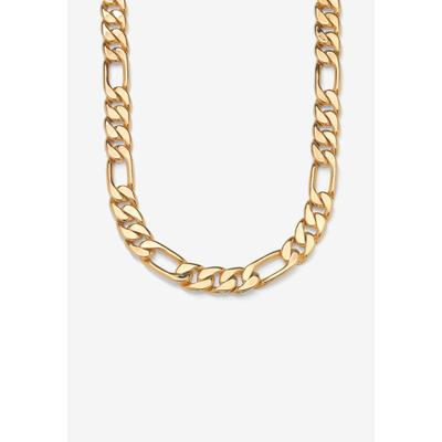 """Men's Big & Tall Figaro-Link Necklace 24"""" by PalmBeach Jewelry in Gold"""