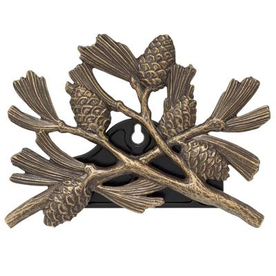 Pinecone Hose Holder by Whitehall Products in French Bronze