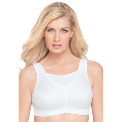 Plus Size Women's No-Bounce Camisole Sport Bra by Glamorise in White (Size 40 F)