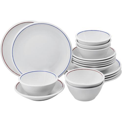Retsch Arzberg Tafelservice Oslo, (18 tlg.) weiß Geschirr-Sets Geschirr, Porzellan Tischaccessoires Haushaltswaren