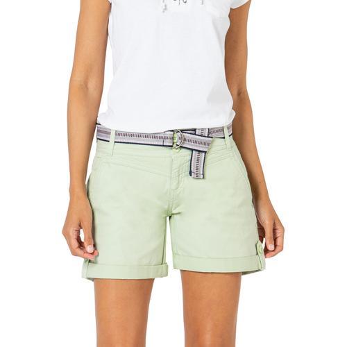 Fresh Made Shorts, mit Gürtel grün Damen Kurze Hosen Shorts