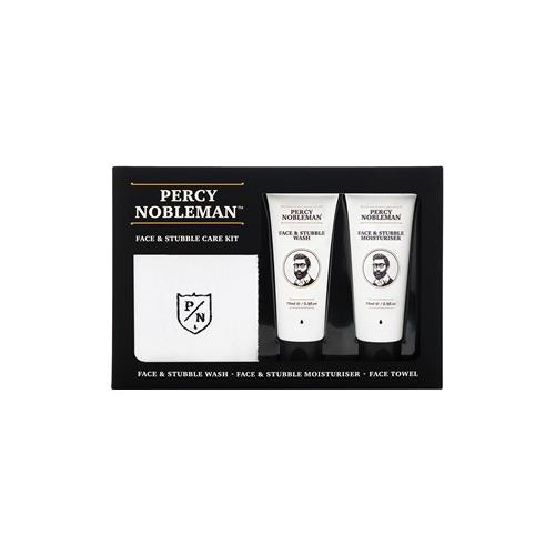 Percy Nobleman Pflege Gesichtspflege Face & Stubble Care Kit Face & Stubble Wash 75 ml + Face & Stubble Moisturiser 75 ml + Face Towel 1 Stk.