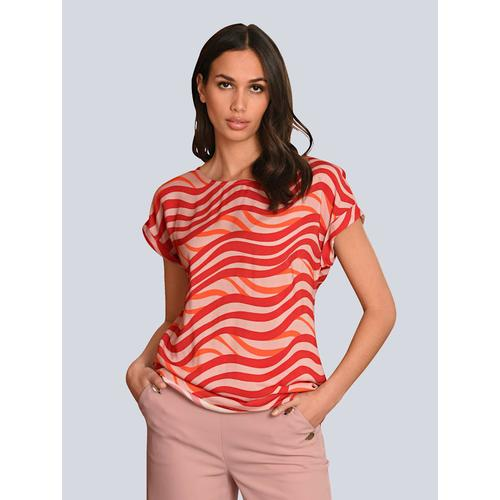 Alba Moda, Bluse in farbenfrohem Druck, rot