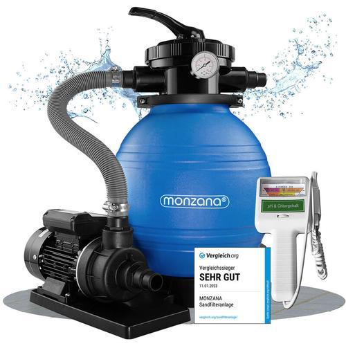 Deuba - Sandfilter Sandfilteranlage 10 m³/h - Poolfilter Filteranlage Filterkessel + Wassertestgerät