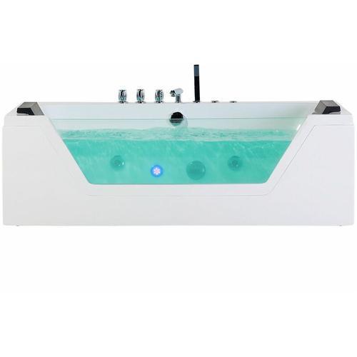 Whirlpool-Badewanne Weiß Sanitäracryl Modern