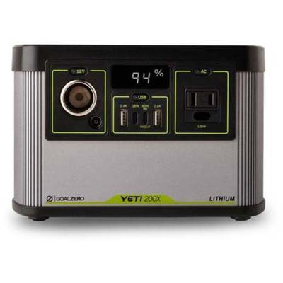 """Goal Zero Battery Chargers Yeti 200X Portable Power Station 120V Model: 22070"""