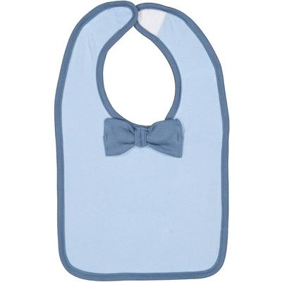 Rabbit Skins R1002 Infant Baby Rib Bow Tie Bib in Light Blue/Indigo | Cotton 1002