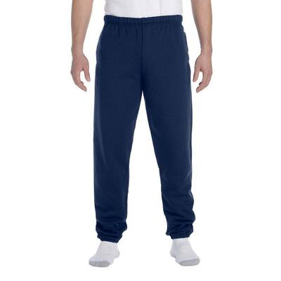 Jerzees 4850P Adult 9.5 oz. Super Sweats NuBlend Fleece Pocketed Sweatpants in J Navy Blue size Large 4850MR