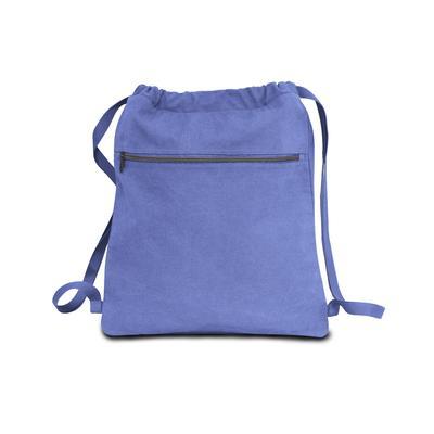 Liberty Bags 8877 Men's Seaside Cotton Pigment Dyed Drawstring Bag in Periwinkle Blue JA8877
