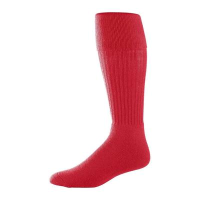 Augusta Sportswear 6031 Athletic Youth Size Soccer Sock in Red size 7-9