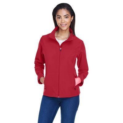 Team 365 TT80W Women's Leader Soft Shell Jacket in Sport Scarlet Red size Small