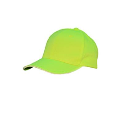 Bright Shield B900 Basic Baseball Cap in Safety Green   Cotton/Polyester Blend