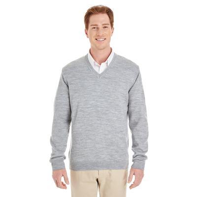 Harriton M420 Men's Pilbloc V-Neck Sweater in Grey Heather size XL | Acrylic Blend