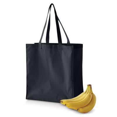 BAGedge BE055 6 oz. Canvas Grocery Tote Bag in Black | Cotton