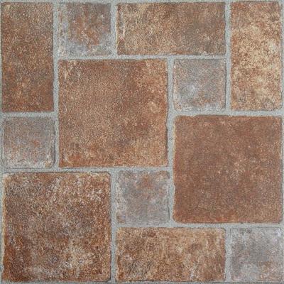 "Nexus 12"" x 12"" Self Adhesive Vinyl Floor Tile by Achim Home Dcor in Brick"