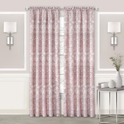 """Wide Width Charlotte Rod Pocket Window Curtain Panel by Achim Home Dcor in Blush (Size 52"""" W 84"""" L)"""