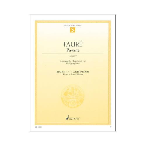 Schott Fauré Pavane Horn