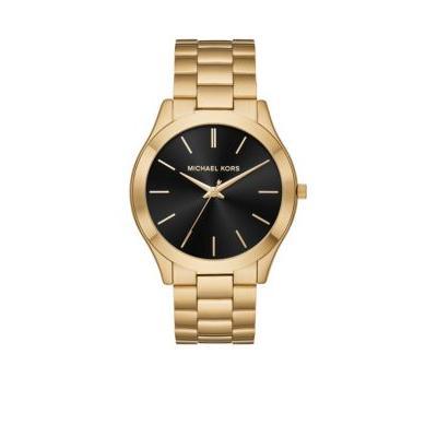 Michael Kors Gold Gold-Tone Slim Runway Watch