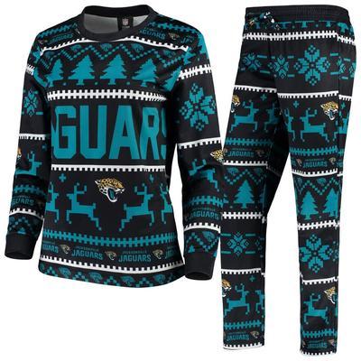 Women's Black Jacksonville Jaguars Holiday Pajama Set, Size: Small