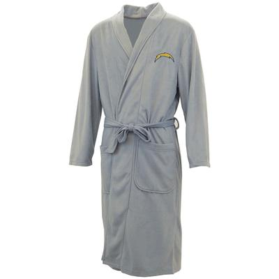 Los Angeles Chargers Concepts Sport Audible Microfleece Robe - Gray