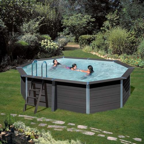Composite Ovalpool-SET 5,24 x 3,86 x 1,24 m
