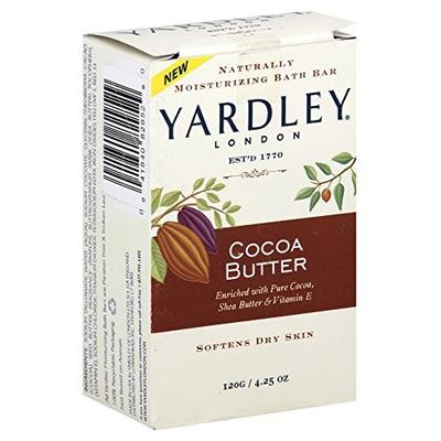 Yardley Moisturizing Bar Cocoa Butter 4.25 oz (Pack of 12)