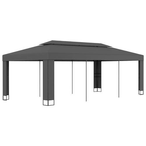 vidaXL Pavillon mit Doppeldach 3 x 6 m Anthrazit