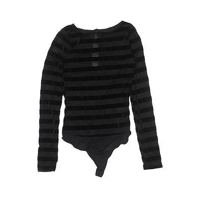 Bodysuit: Black Stripes Tops - S...