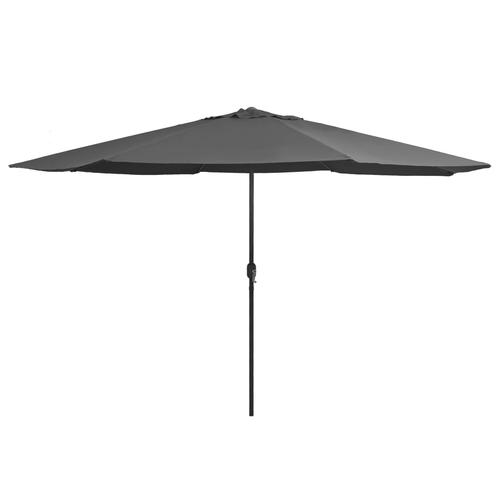 vidaXL Sonnenschirm mit Metall-Mast 400 cm Anthrazit