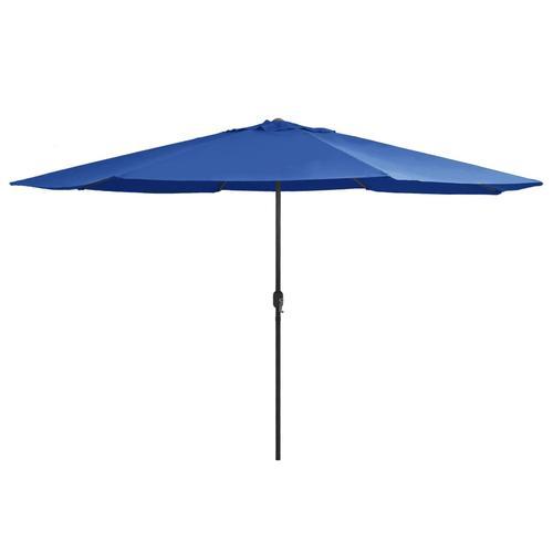 vidaXL Sonnenschirm mit Metall-Mast 400 cm Azurblau
