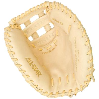 "All Star Pro 33.5"" CMW3001 Fastpitch Softball Catchers Mitt - Right Hand Throw Tan/Brown"