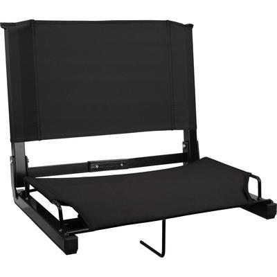 Sports Unlimited Wide Stadium Chair Black